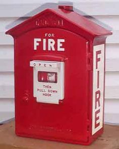 Old Gamewell Fire Alarm Box