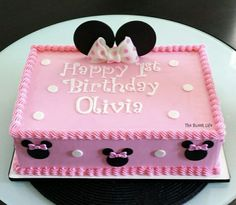 ideas for birthday girl cake minnie mouse Bolo Do Mickey Mouse, Bolo Da Minnie Mouse, Minnie Mouse Birthday Cakes, Mickey Mouse Birthday, Birthday Cake Girls, Minnie Mouse Party, Mouse Parties, Disney Parties, Mickey Cakes