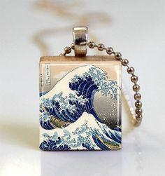 The Great Wave of Kanagawa Scrabble Tile от MissingPiecesStudio, $7.95