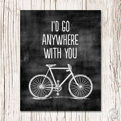 ID GO ANYWHERE WITH YOU Printable Art Print -Instant Download - 8x10/300 dpi for DIY or online photo Lab printing.  (created with a chalkboard