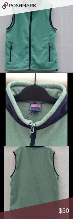 VINEYARD VINES VEST IN MINT CONDITION Green vineyard vines vest in mint condition. Got it for my birthday but I didn't ever wear it. Hope someone can get some use out of it❤️ Vineyard Vines Jackets & Coats
