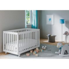 I love this nursery decor, so cute and simple | Nursery Decor | Nursery Inspiration | White Nursery | Simple Nursery | Baby Furniture | #nursery #decor #baby #ad (Affiliatelink - I will earn a small commission if you click on this link - no additional cost for you)