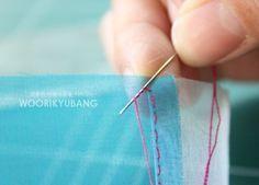 노방쪽보의 조각을 잇는 방법 간단하게 설명합니다~ 1. 헤라질로 시접잡아주시구용~~ 2. 매듭을 맺은 실로 ... Korean Crafts, Sewing Hacks, Incense, Fiber Art, Hand Sewing, Needlework, Diy And Crafts, Arrow Necklace, Sewing Patterns