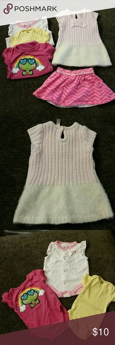 Baby lot 3-6 months Cherokee dress and skirt, Gerber, Geranimals and bsby connection.  No stains.  Washed in Tide and Bounce. Other
