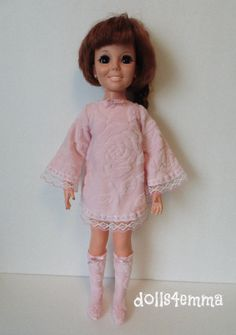 CRISSY DOLL CLOTHES DRESS & BOOTS fits Kerry Brandi Handmade Fashion NO DOLL d4e