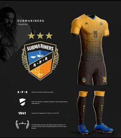 Diseño de jersey y logo equipo de Aquaman