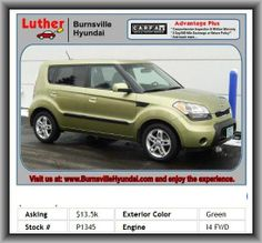 2010 Kia Soul Soul+ Wagon  Interior Air Filtration, Bucket Front Seats, Independent Front Suspension Classification, Audio Controls On Steering Wheel, Cloth Seat Upholstery, Front Independent Suspension, Braking Assist, Cruise Controls On Steering Wheel, Clock: In-Radio Display, 4-Wheel Abs Brakes, Abs And Driveline Traction Control, Mp3 Player, Coil Rear Spring, 1St And 2Nd Row Curtain Head Airbags, Max Cargo Capacity: 53 Cu.Ft., Seatback Storage: 2, Audio System Memory Card Slot, Black