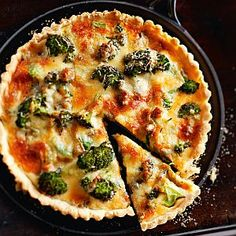Vegetarian Recepies, Quiche, Baking Recipes, Broccoli, Food And Drink, Eat, Breakfast, Cooking Recipes, Morning Coffee