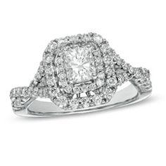 4 Ct T W Quad Princess Cut Diamond Frame Bridal Set In