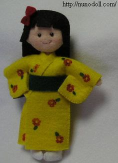 Mini doll in kimono FREE pattern and tutorial,dolls andclothes