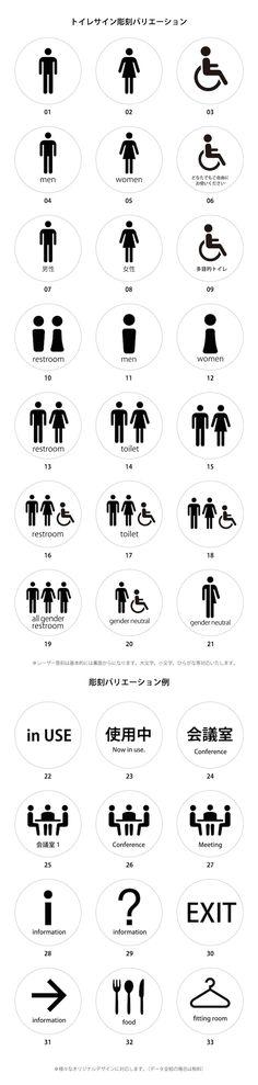 トイレ表示バリエーション