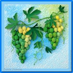 Quilled Grapes