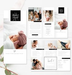 Photography Welcome Guide to help showcase your photography and inform your clients. Photography Brochure, Photography Templates, Photography Guide, Photography Packaging, Brochure Design, Brochure Template, Photo Packages, Flawless Beauty, Color Profile