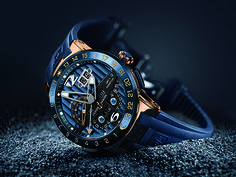 "Ulysse Nardin's new Blue Toro watch — a perpetual calendar with dual-time function powered by an in-house movement — is the definition of ""hard-to-get:"" The watch (Ref. 326-01LE) is limited to 99 pieces and available exclusively in Ulysse Nardin boutiques."