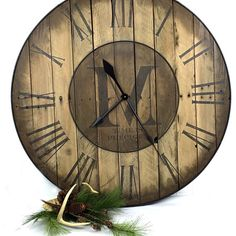 28 Custom Wall Clock  Large Wall Clock  by MonkeyShinebyDesign