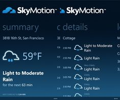 SkyMotion Weather App Now Available For Windows Phone Devices - MSPoweruser When It Rains, Windows Phone, Need To Know, Knowledge, Told You So, Weather, App, How To Plan, Consciousness