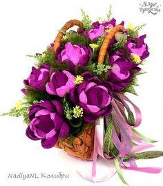 Lembrancinhas e Festas: Flores de papel recheadas de bombons