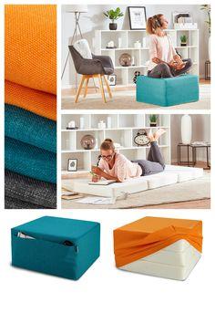 Praktický Futon môžete používať ako taburet alebo ho rozložiť na pohodlnú posteľ.  #dormeo #beddroomideas #mattresses #homedecor Table, Furniture, Home Decor, Decoration Home, Room Decor, Tables, Home Furnishings, Home Interior Design, Desk