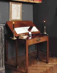 A GEORGE II MAHOGANY ARCHITECT'S TABLE  via Christie's !!!! Sold this past summer, mid 18th Century (George II. ) looks like Oak. petite and incredible.