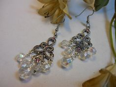 Pink and Clear AB Swarovski Crystal by TheresACharm4That on Etsy, $16.00