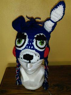 sports shoes 80107 eaa30 Crochet hat Five Nights at Freddys- Toy Bonni  Gorro Crochet Cinco Noches  en Freddys- Bonnie de Juguete