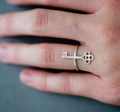 love keys on rings/necklaces
