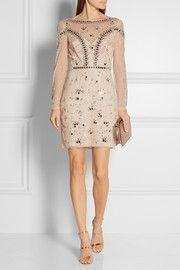 Klementina embellished tulle mini dress