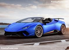 Lamborghini Huracan Performante Spyder 2019 poster, #poster, #mousepad, #tshirt, #printcarposter