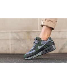 d26b36cc43 Nike Air Max 90 Essential Essential Carbon Green Trainers Trainers  outlet638 Green Trainers, Mens Trainers