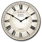 The stone type look that goes well with any office decor. http://www.clocksaroundtheworld.com/white-wall-clock.html