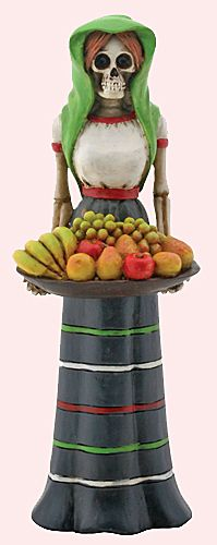 Day of the Dead Gifts - Collectible Day of the Dead Fruit Lady Desktop Figurine $21.95