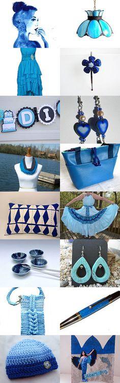 Blue Fashion by CartoCreative on Etsy--Pinned with TreasuryPin.com