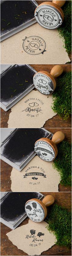 Rustic custom wedding wooden stamps #rusticwedding #countrywedding #dpf #weddingideas