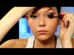 Look de maquillaje para ojos juntos con Maybelline