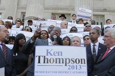 "RIP RIGHTEOUS WARRIOR - 10-09-2016, Age 50.  Brooklyn District Attorney Ken Thompson took office in January 2014. He was the borough's first black chief prosecutor. Thompson also moved to vacate or support the dismissal of convictions of 21 people wrongly convicted of murder and other offenses. During his tenure as Brooklyn DA, Thompson ordered his office not to prosecute low level marijuana arrests. He said he also wanted to spare younger New Yorkers from ""the burden of a criminal record."""