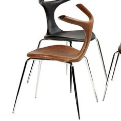 Taurus Chair, Brown Faux Leather = DAn-Form