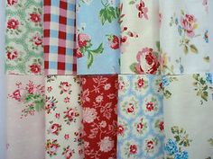 "patchwork quilt squares | ... about 10 Cath Kidston fabric squares 4 x 4 "" patchwork quilting.  Beautiful!"
