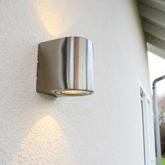 Baleno LED-Wandlampe Up&Down mit Lichtfilter / Edelstahl