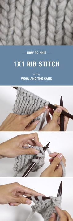 How to knit Rib stitch with Wool and the Gang.