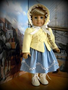 3 Piece 1850's outfit for 18 American Girl doll by BringingJoy