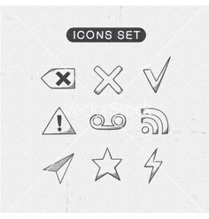 Miscellaneous symbols set vector by Chuhail on VectorStock®