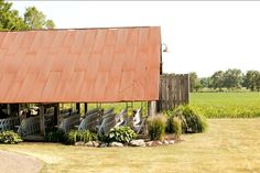 Side View of the Pavilion at The Farmhouse Weddings (photo © copyright Casper Hamlet Photography)