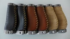 Short Ergonomic Leather Grips for M bar Brompton.