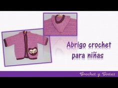 Abrigo - chaqueta con lazo tejido a crochet (ganchillo) para niñas – Parte 1 - YouTube