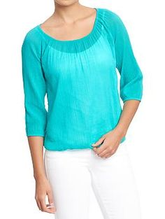 Womens Gauze Blouses SUCH A COOL FIND think about D #airblowstaighthur:)