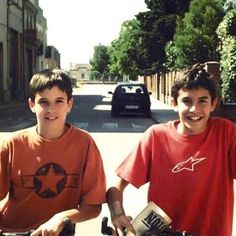 When they were kid ^_^ Marc Marquez, Vinales, Valentino Rossi, Motogp, Motocross, Cute Boys, Pilot, Georgia, Honda