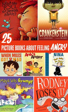Help kids learn to manage overwhelming feelings of anger and frustration (and tantrums!) with this great big list of children's picture books about anger. Toddler Books, Childrens Books, Social Work Interventions, Baby Book To Read, Pre-school Books, Emotional Books, Emotional Awareness, Feeling Frustrated, Children's Picture Books