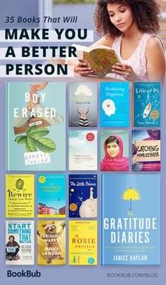 A reading list of books that make you a better person, including inspirational nonfiction books, classic novels, books for women and men, and more! #bookbub #mondaymotivation #inspirationalbooks