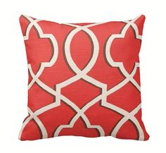 Coral Morrow Zippered Throw Pillow Cover by PrimalVogueHomeDecor