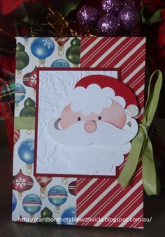 Cards on the table with Vicki: No Cut Christmas Gift Card Holder.